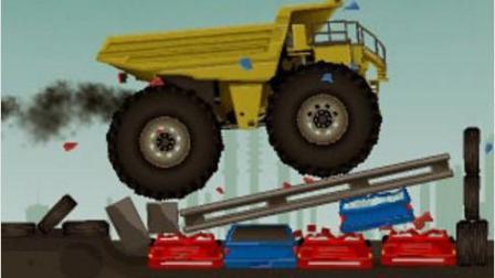 超级破坏大卡车 小汽车大危机 大卡表演视频 汽车总动员动画片国语版
