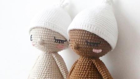 毛儿手作毛线钩针玩偶睡眠宝宝新手编织教程新毛线编织简单方法