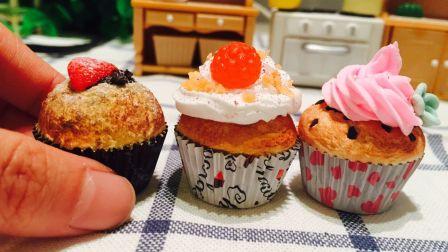 超可爱!自制皮卡丘杯子蛋糕(不可食),超轻粘土、纸粘土迷你食玩【小葩手绘】