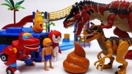 恐龙世界总动员 恐龙战队迷你特工队 猪猪侠小伶玩具