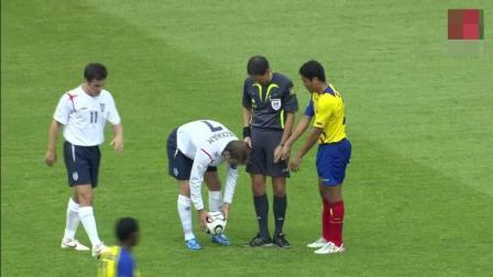 经典重温! 贝克汉姆世界杯的最后一个进球, 门将挡都挡不住