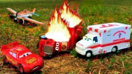 猪猪侠救护车消防车大卡车小汽车玩具 闪电麦昆