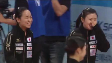 福原爱获得韩国公开赛冠军, 笑的像花一样, 伊藤美诚跟在后面差点走错路