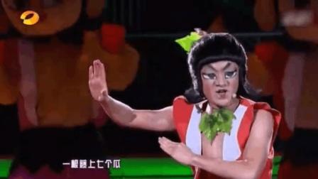 王祖蓝扮演葫芦娃, 现场翻唱《金刚葫芦娃》, 爆笑全场