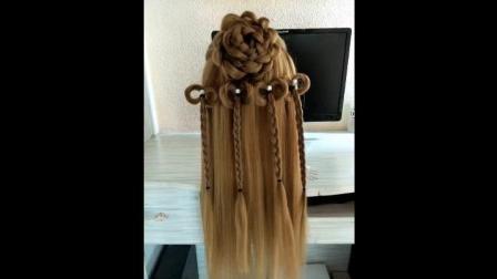 古装美女发型编发教程