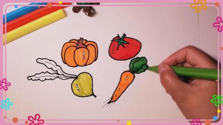 蔬菜简笔画 南瓜简笔画