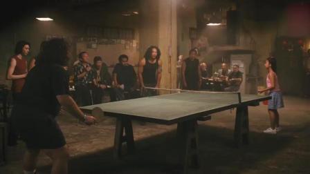 打乒乓球赢了唐人街小孩, 白胖子顿时感觉自己厉害了, 却不知真正的高手在国内