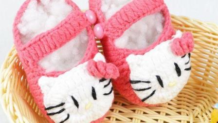 雅馨绣坊钩编宝宝鞋第10集:KT猫宝宝鞋下集如何织