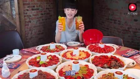 大胃王阿伦: 午餐300只小龙虾、3个菜, 还有好玩儿的西瓜披萨!
