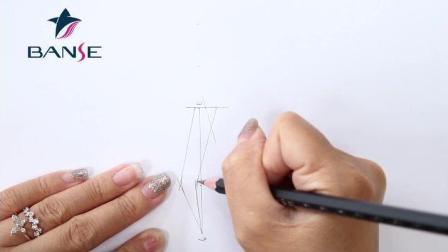 韩式半永久眉形设计教学视频-本色纹绣半永久