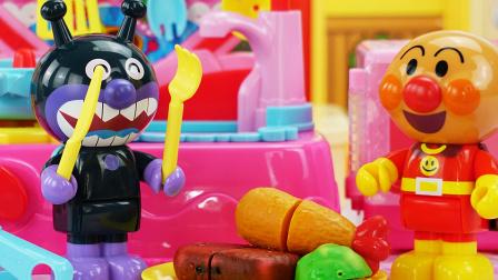 面包超人煎牛排 动画 玩具口袋