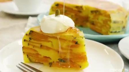 美食视角: 一分钟教你用电饭煲做会南瓜牛奶杏仁蛋糕!