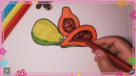 木瓜简笔画 简笔画教程 水果简笔画