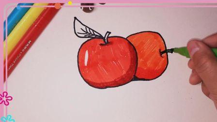 苹果简笔画 简笔画教程 水果简笔画