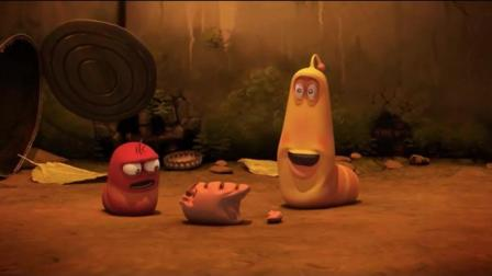 爆笑虫子: 黄虫把偷红虫的香肠吐出来, 舍不得还给红虫又吞了下去