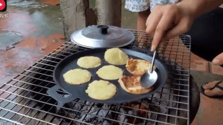 煎面包还可以这样做! 柬埔寨大姐用土豆粉制作美味的煎面包, 味道超级棒