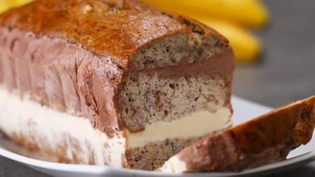 美味的香蕉面包冰淇淋蛋糕, 让面包不再干巴巴的