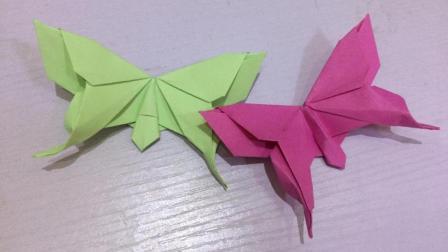 手工折纸花蝴蝶教程 活灵活现的蝴蝶详细视频 mp4