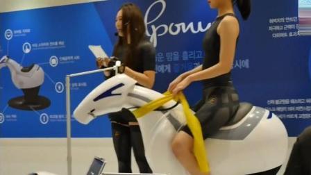 韩国人发明的骑马机 在家里感受骑马的乐趣 暂时女性用户最多