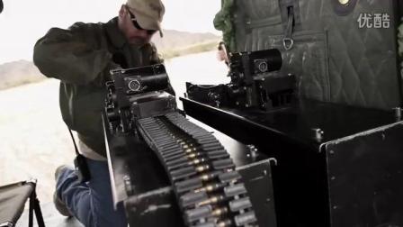 加特林机枪空中扫射汽车