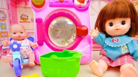 婴儿娃娃和洗衣机玩具美国太空沙玩具动力沙小企鹅波鲁鲁玩具韩国人气【俊和他的玩具们