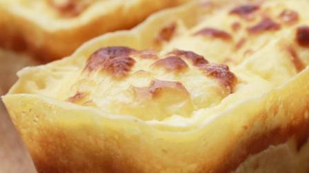 沙兰乳酪面包, 面覆盖芝士片, 内有浓浓的乳酪