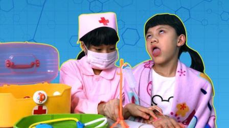 儿童生手足口病发烧感冒 医生打针治病 546
