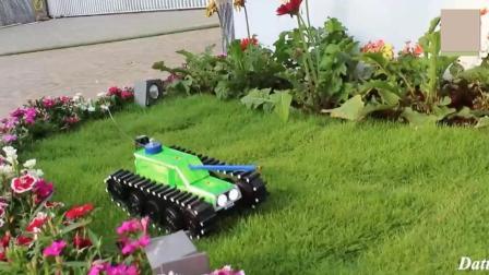 牛人制作的遥控坦克, 履带做的很有创意!