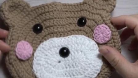 小熊挎包手工毛线编织教学