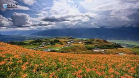 延时摄影: 台湾花蓮六十石山