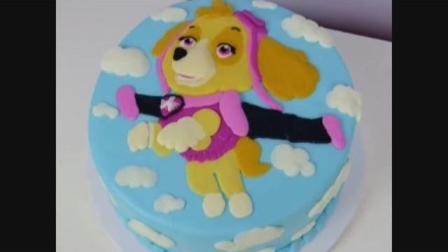 一只有梦想的小狗蛋糕