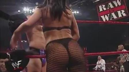 WWE 男女混合四重威胁赛 美女性感中带着危险 天灾