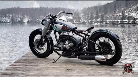 宝马R50改装复古摩托车 比例完美