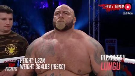 身大力不亏! 330斤真正的重量级拳王曾一拳KO萨普