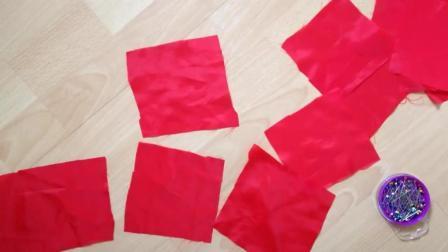 旧衣服废布不要扔, 这样做个花朵型地毯, 漂亮又实用