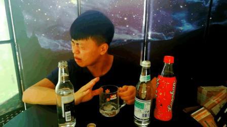 试喝三款崂山饮料, 白花蛇草水真的很难喝, 但有一款却不错