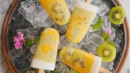 炼奶芒果奇异果冰棒, 炎炎夏日! 你需要的就是这款冰棒!