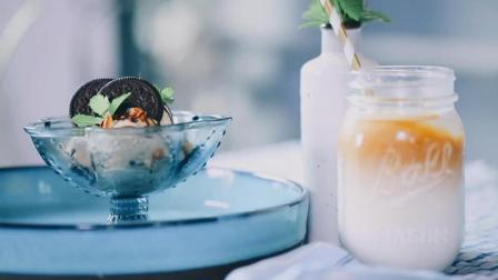 【咖啡冰淇淋和冰咖啡】用胶囊咖啡制作的冰淇淋, 一口就甜到你心里