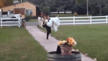 婚礼现场的糗事, 估计没等婚礼结束新娘就要向新