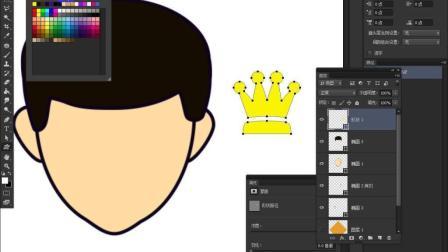 使用Photoshop制作一个微信卡通头像效果!