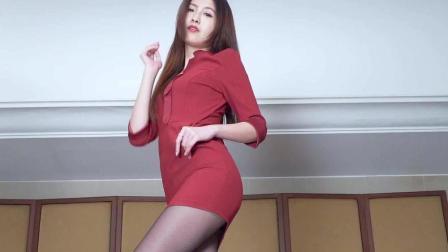 美腿腿模, 教你玩转性感职场制服时尚, 高跟丝袜非常美
