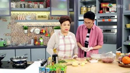 肥妈煮饭! 煎心形牛排, 白汁烟肉菠菜, 鸡肉饼, 芝士鸭血米线, 抹茶豆腐