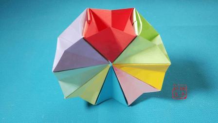 折纸王子大全 简单折纸 折纸王子教你折纸魔法圈 可以变换翻转的魔术折纸玩具