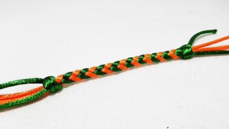 木子手工: 红绳手工编织中国结之扁形四股辫编法视频教程
