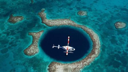 世界最大海洋蓝洞 直径超十个篮球场 大海的瞳孔