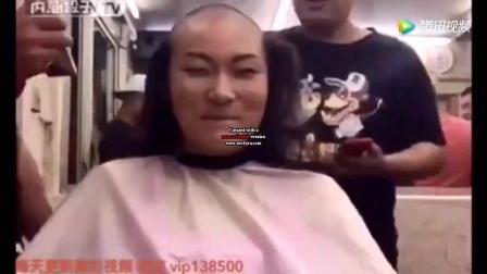 四个美女去理发店剃光头, 剃完比男人还帅