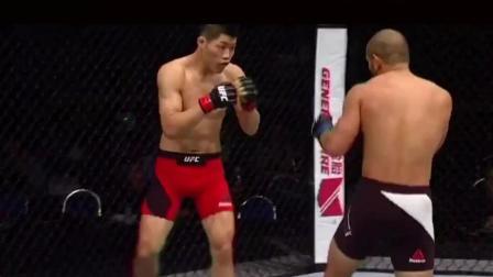 UFC嘎子哥把对手打得不能还手, 李景亮中国UFC的骄傲