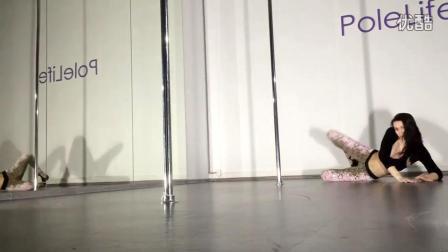美女穿15cm性感水台高跟凉鞋跳钢管舞, 你这样脚累吗?
