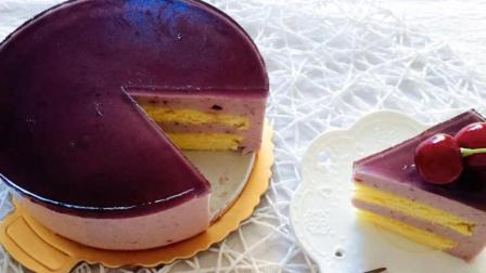 夏日甜品: 免烤蓝莓慕斯蛋糕, 入口即化, 赶紧学起来
