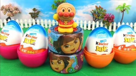 童趣游戏面包超人 第一季 面包超人拆奇趣蛋 朵拉汽车轮胎出奇蛋  朵拉汽车轮胎出奇蛋